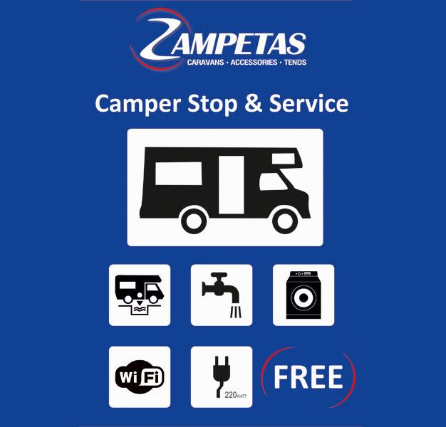 camper stop zampetas(Θεσσαλονίκη)